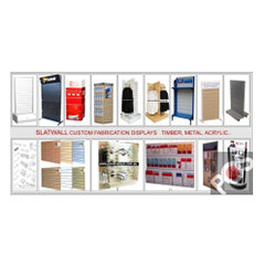 Slatwall and Slotted Wall Boards and Accessories