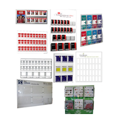 Wall Poster and Brochure Display Boards