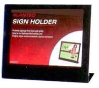 Landscape slanted sign holder